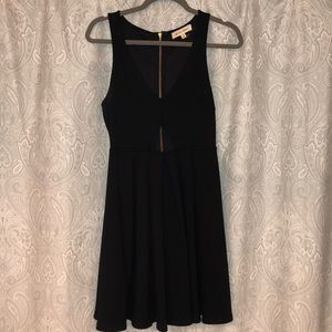 Sexy Black Swan Dress w/ Cut Out Front - Small